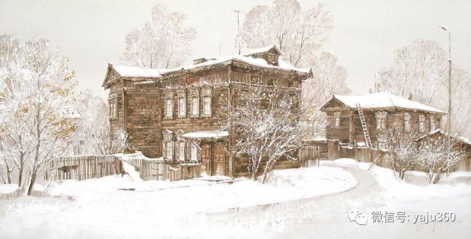 油画世界:俄罗斯的雪景油画欣赏插图91