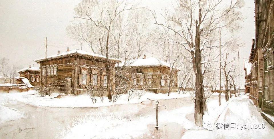 油画世界:俄罗斯的雪景油画欣赏插图92