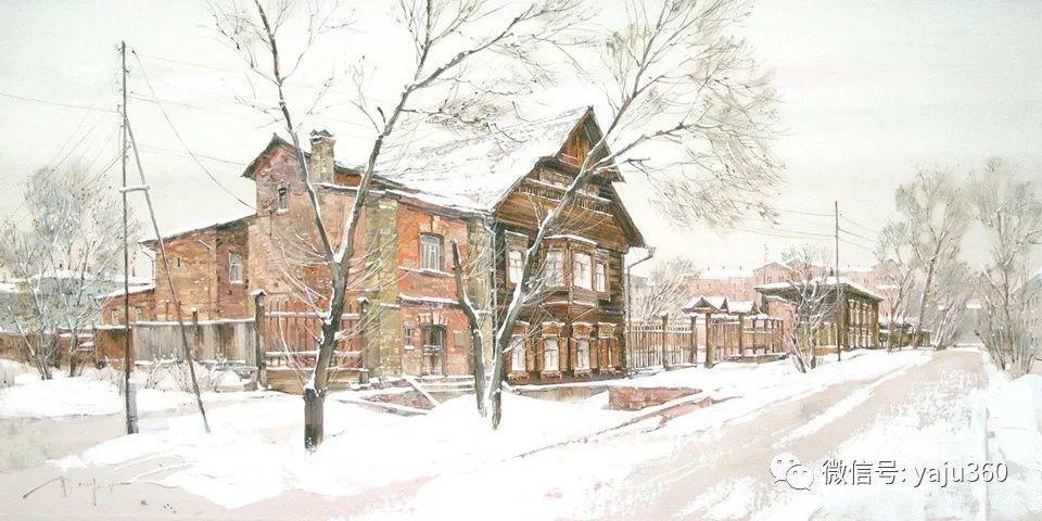 油画世界:俄罗斯的雪景油画欣赏插图94