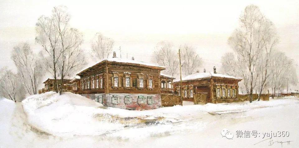 油画世界:俄罗斯的雪景油画欣赏插图95