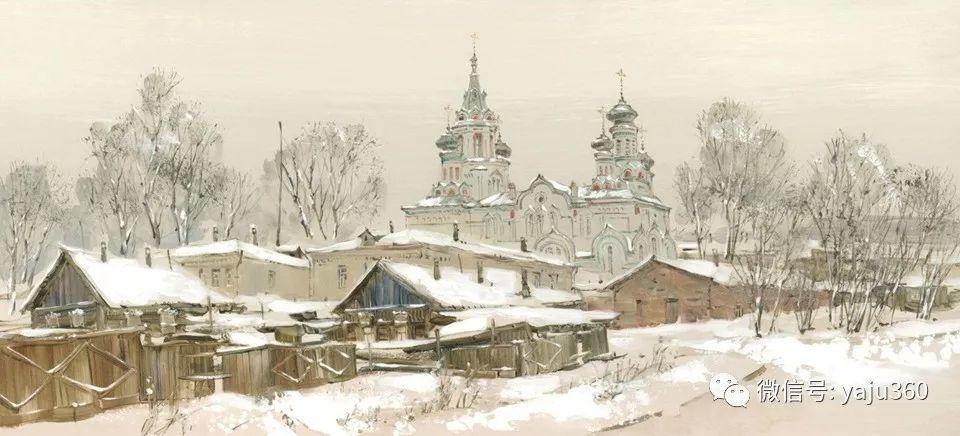 油画世界:俄罗斯的雪景油画欣赏插图98