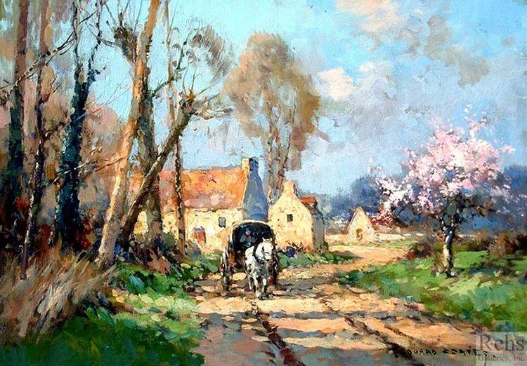 法国Edouard Leon Cortes油画作品插图