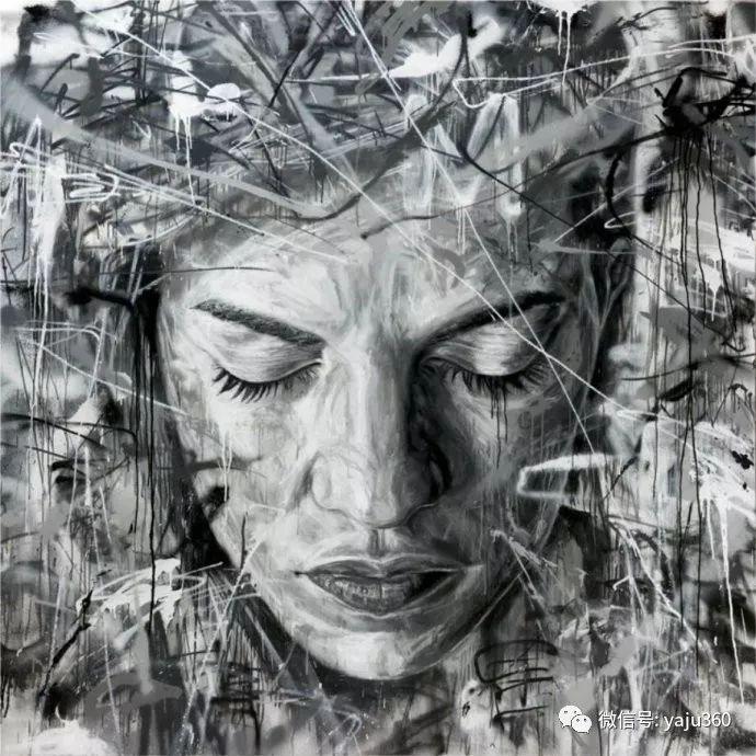 潦草的线条与交织的抽象插图121