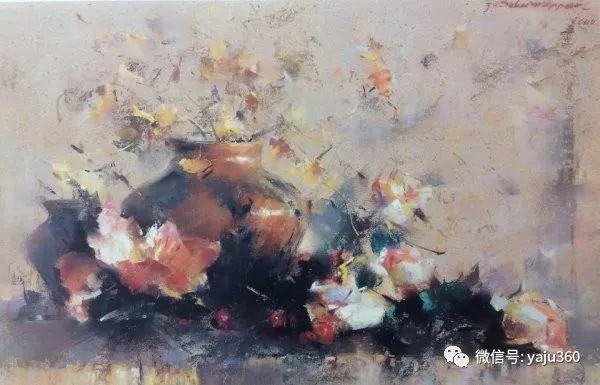 伊朗画家缤纷层次的色粉作品插图14