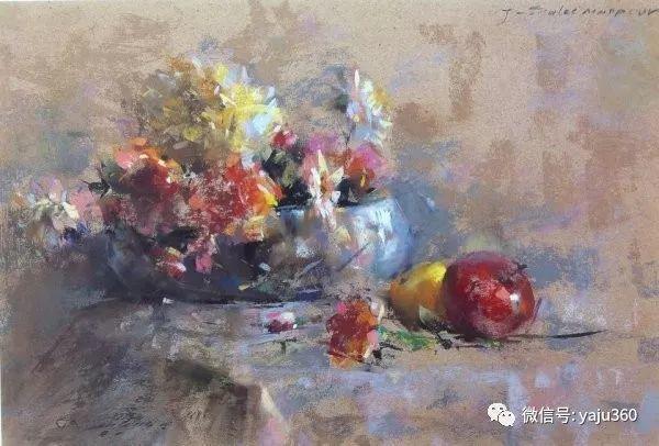 伊朗画家缤纷层次的色粉作品插图15