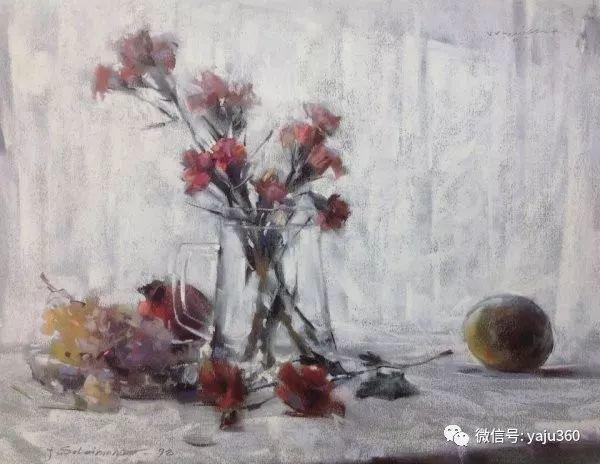 伊朗画家缤纷层次的色粉作品插图18