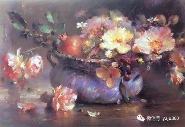 伊朗画家缤纷层次的色粉作品插图20
