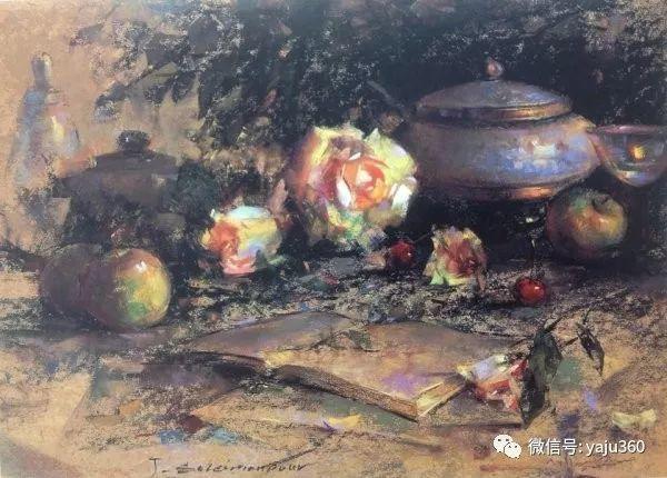 伊朗画家缤纷层次的色粉作品插图21