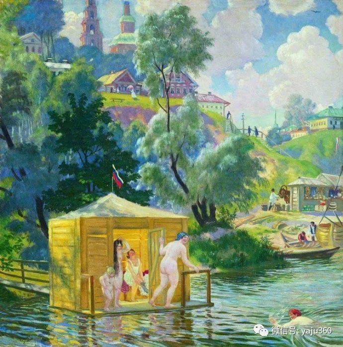 俄罗斯后印象派画家Boris Kustodiyev人物画插图6