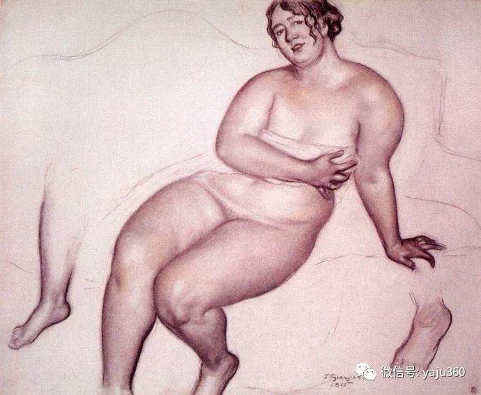 俄罗斯后印象派画家Boris Kustodiyev人物画插图10