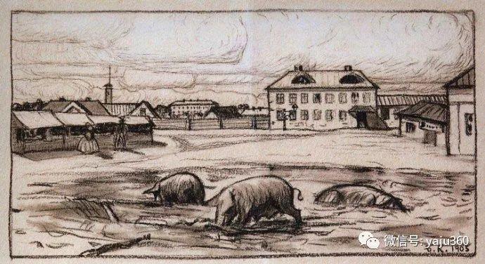 俄罗斯后印象派画家Boris Kustodiyev人物画插图21