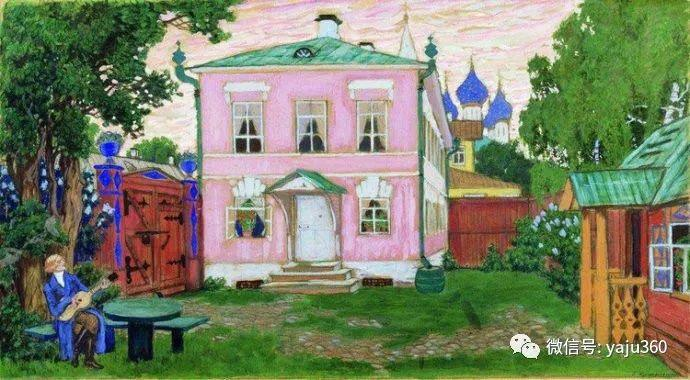 俄罗斯后印象派画家Boris Kustodiyev人物画插图22