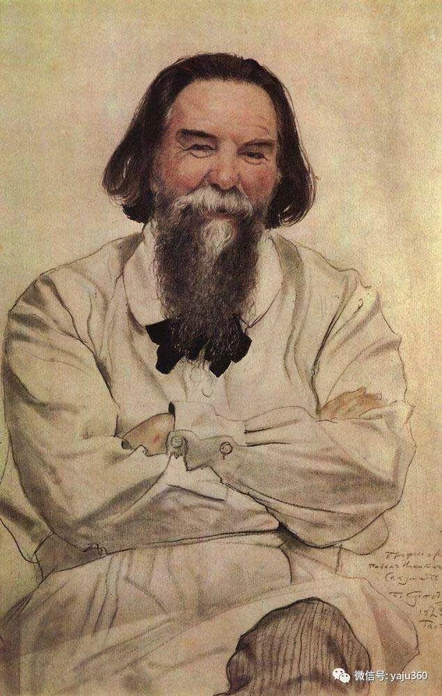 俄罗斯后印象派画家Boris Kustodiyev人物画插图25