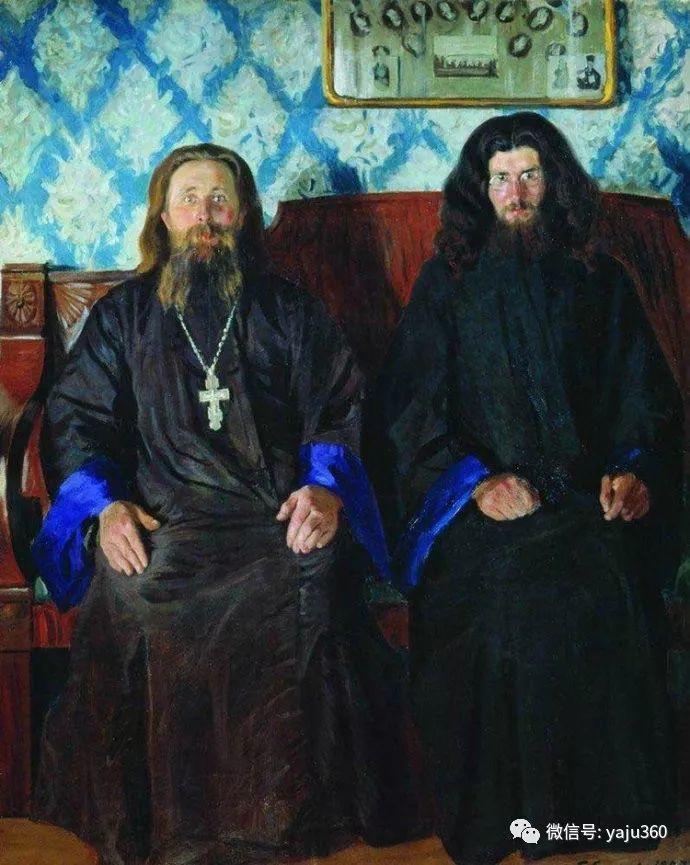 俄罗斯后印象派画家Boris Kustodiyev人物画插图31