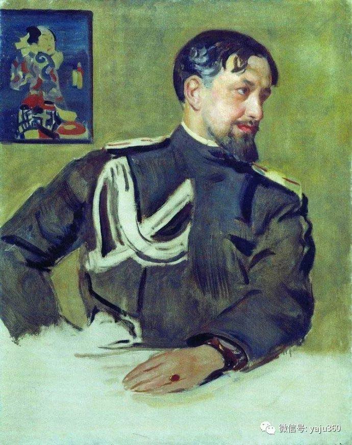 俄罗斯后印象派画家Boris Kustodiyev人物画插图34