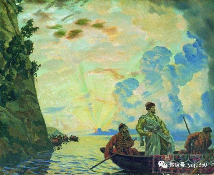 俄罗斯后印象派画家Boris Kustodiyev人物画插图37