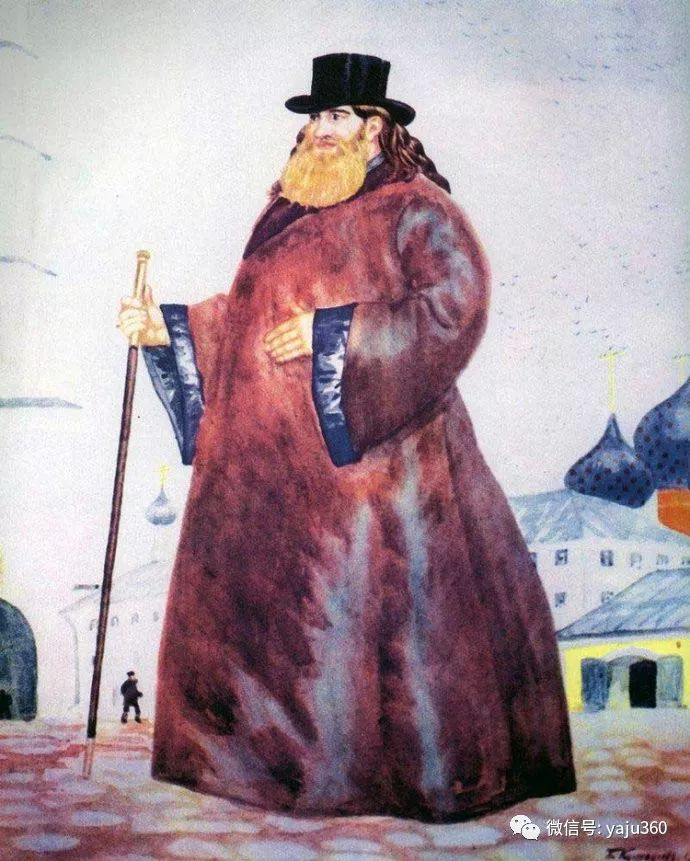 俄罗斯后印象派画家Boris Kustodiyev人物画插图44