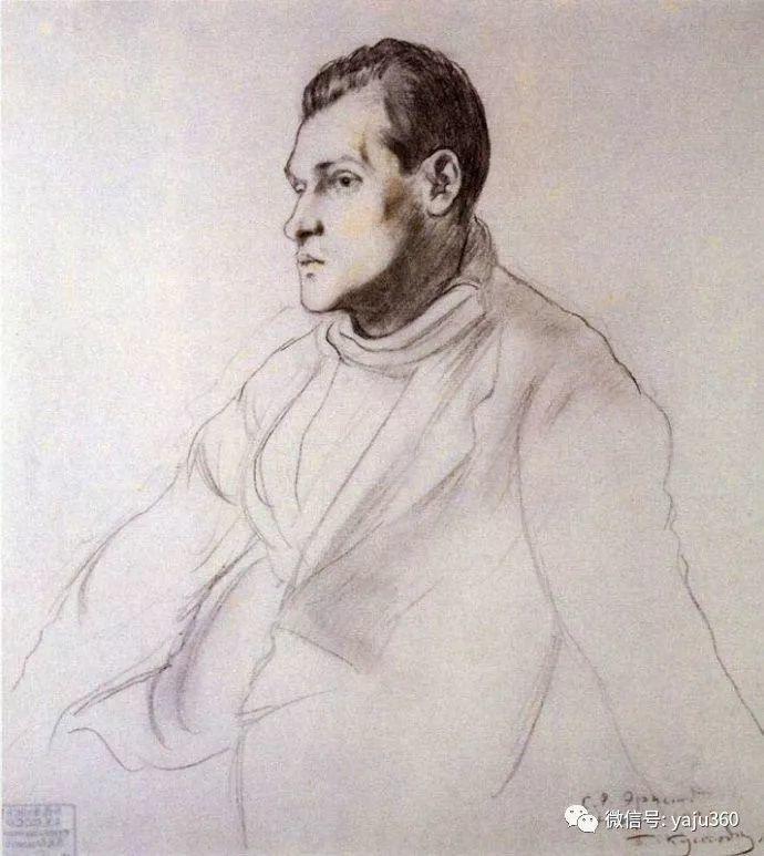 俄罗斯后印象派画家Boris Kustodiyev人物画插图50