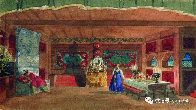 俄罗斯后印象派画家Boris Kustodiyev人物画插图52
