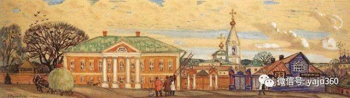 俄罗斯后印象派画家Boris Kustodiyev人物画插图55