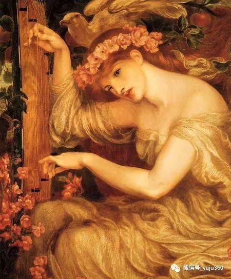 但丁·加布里埃尔·罗塞蒂油画人物作品欣赏插图