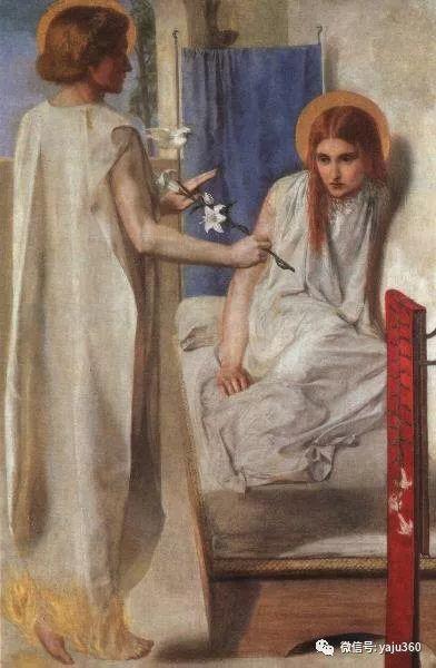 但丁·加布里埃尔·罗塞蒂油画人物作品欣赏插图1
