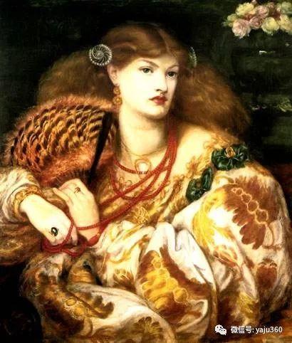 但丁·加布里埃尔·罗塞蒂油画人物作品欣赏插图2