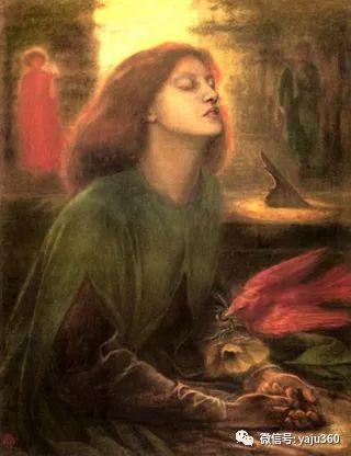 但丁·加布里埃尔·罗塞蒂油画人物作品欣赏插图4