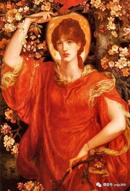但丁·加布里埃尔·罗塞蒂油画人物作品欣赏插图5