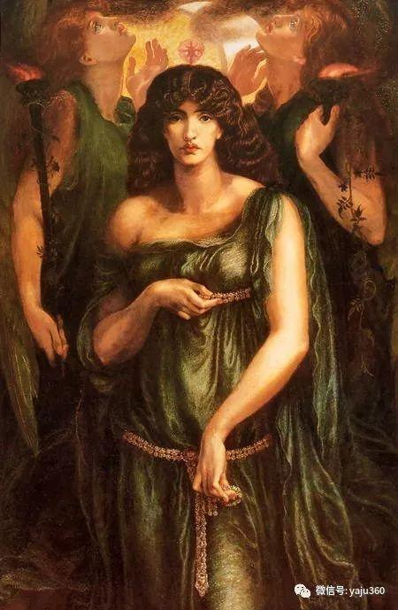 但丁·加布里埃尔·罗塞蒂油画人物作品欣赏插图6