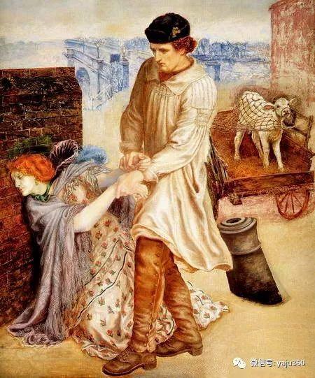 但丁·加布里埃尔·罗塞蒂油画人物作品欣赏插图7
