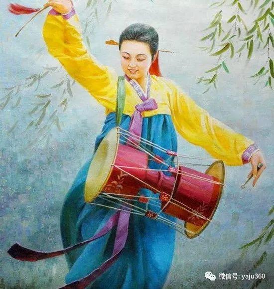朝鮮油画中的清新女子作品插图1