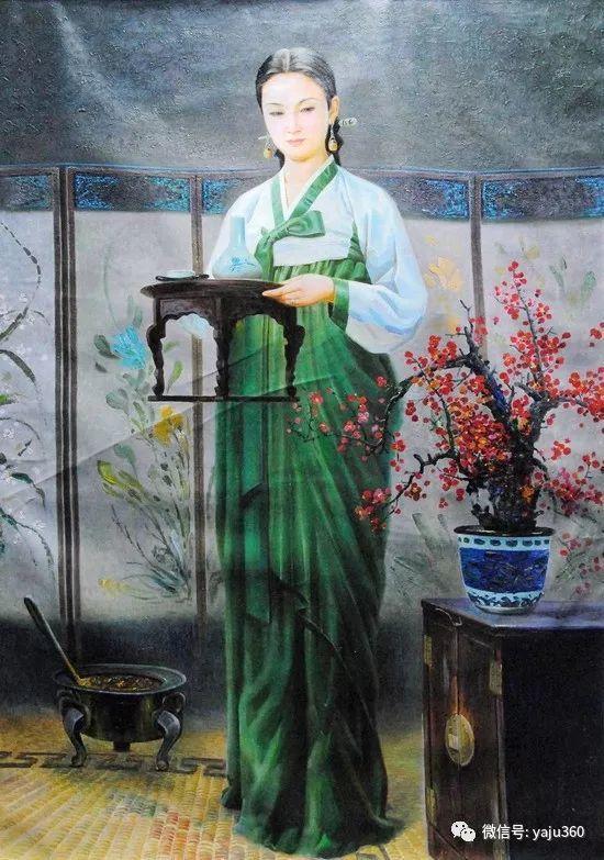 朝鮮油画中的清新女子作品插图2