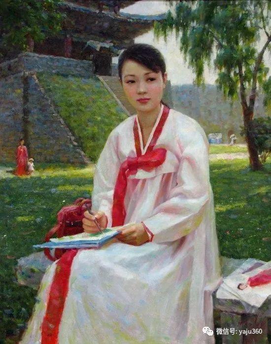 朝鮮油画中的清新女子作品插图3