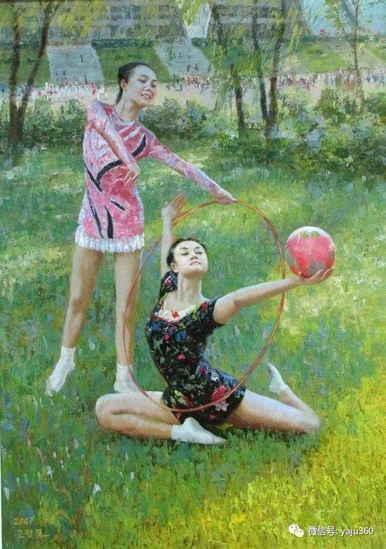 朝鮮油画中的清新女子作品插图4