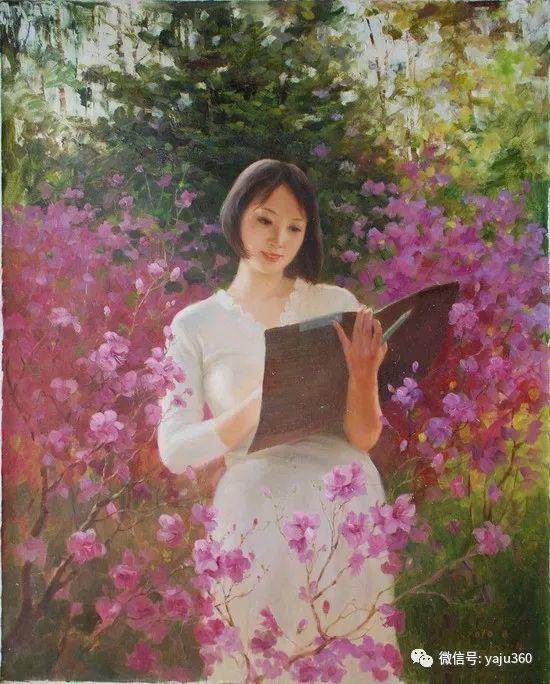 朝鮮油画中的清新女子作品插图5