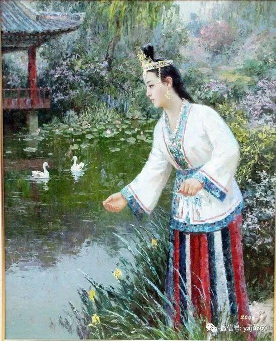 朝鮮油画中的清新女子作品插图7