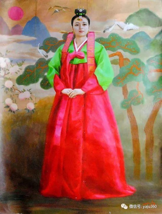 朝鮮油画中的清新女子作品插图8