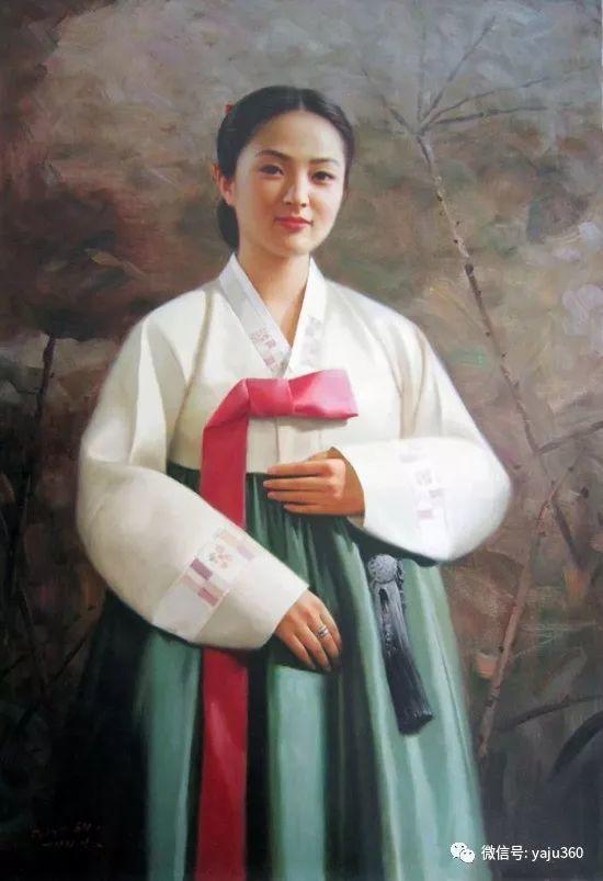 朝鮮油画中的清新女子作品插图9