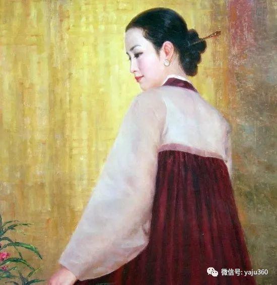 朝鮮油画中的清新女子作品插图12