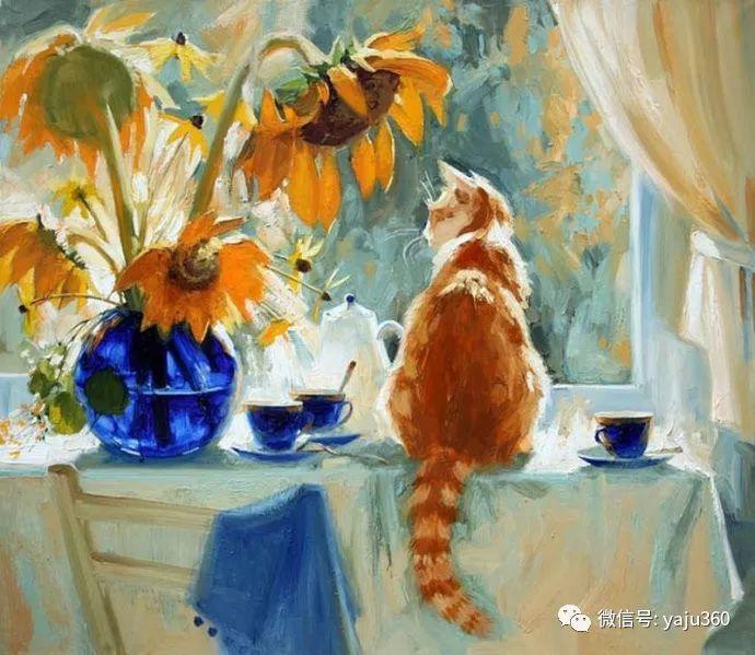 画家笔下的猫咪和现实中一样调皮插图1