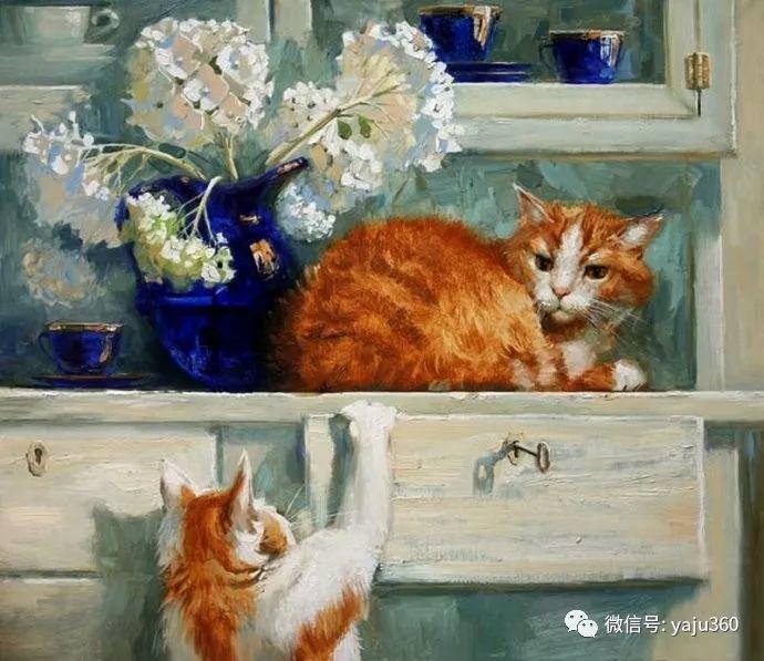 画家笔下的猫咪和现实中一样调皮插图5