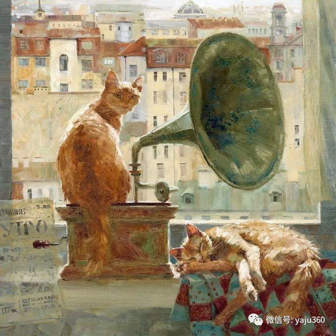 画家笔下的猫咪和现实中一样调皮插图7
