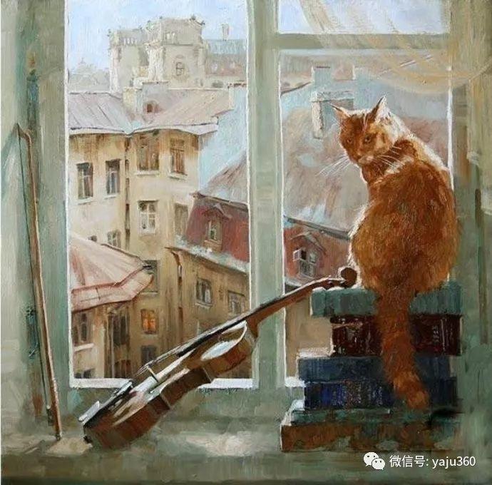 画家笔下的猫咪和现实中一样调皮插图9