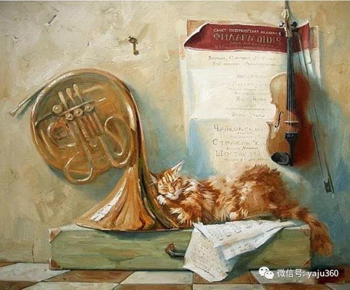 画家笔下的猫咪和现实中一样调皮插图17