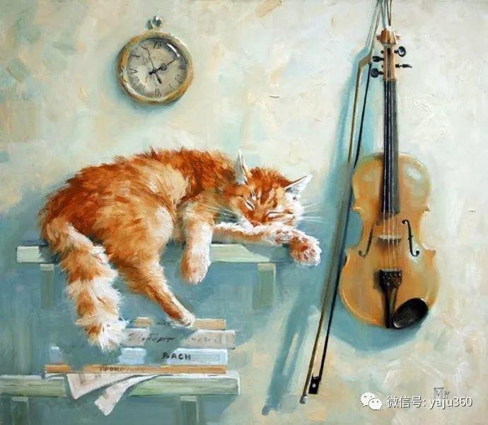 画家笔下的猫咪和现实中一样调皮插图23