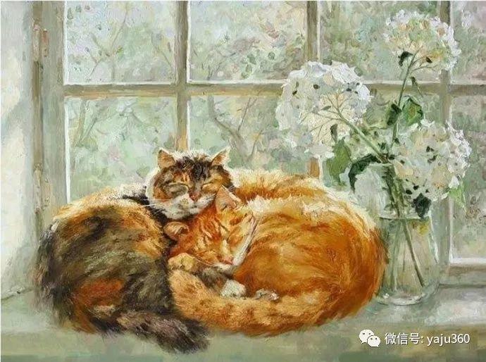 画家笔下的猫咪和现实中一样调皮插图27