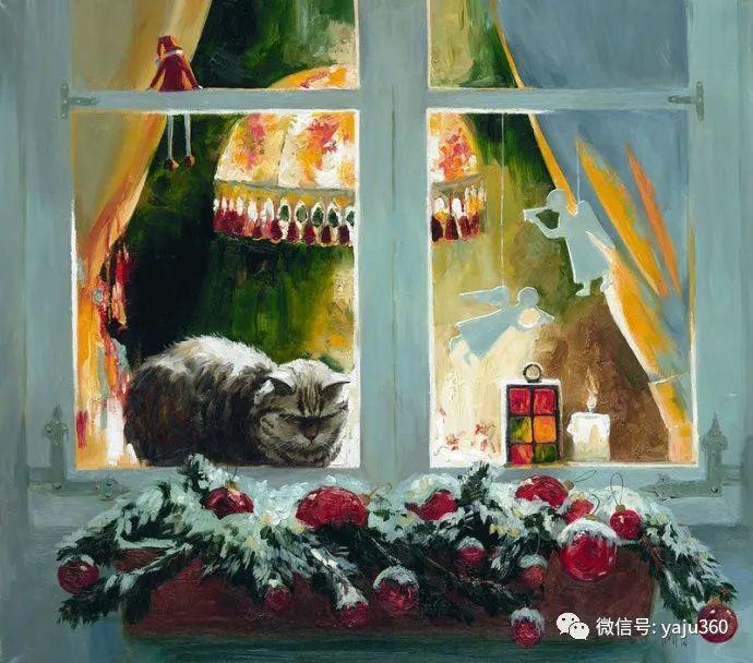 画家笔下的猫咪和现实中一样调皮插图33