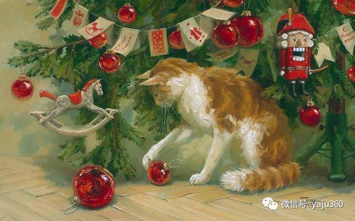 画家笔下的猫咪和现实中一样调皮插图35