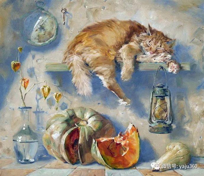 画家笔下的猫咪和现实中一样调皮插图37